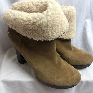 Ugg Australia Dandylion Boots 8.5 Sherpa Suede